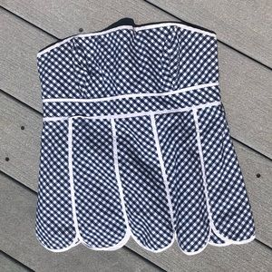 LILLY PULITZER HALTER TOP GINGHAM STRAPLESS